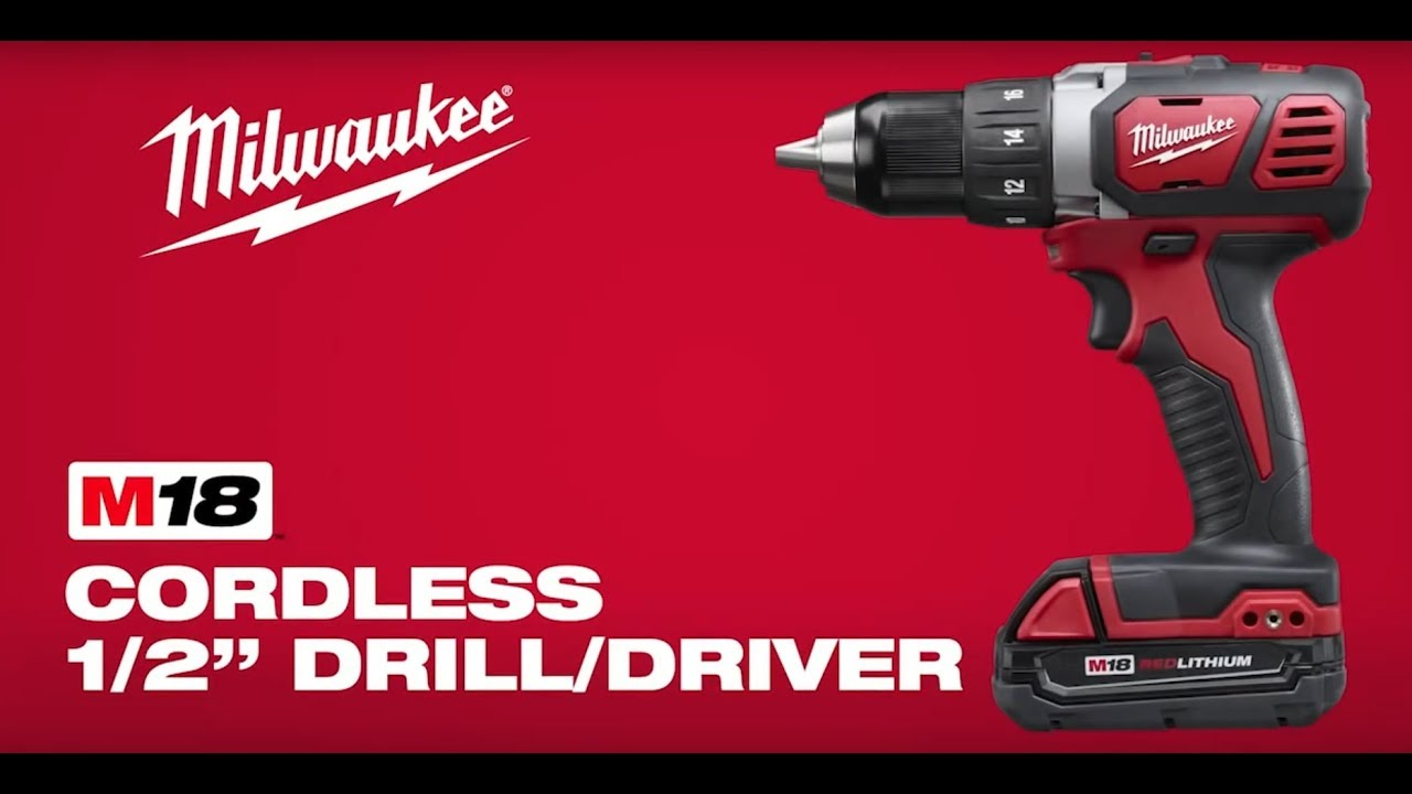 Drill Milwaukee 2702-22CT M18 1//2 in Li-Ion Compact Brushless Hammer Driver Kit