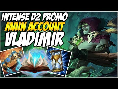 INTENSE D2 PROMO ON VLADIMIR - With New Eye Tracker! - Climb to Master S8 | League of Legends