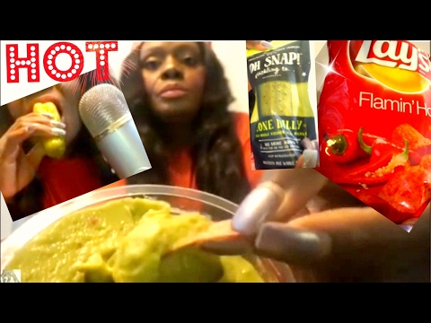 Flamin Hot Lays ASMR Pickle/Eating Sounds/Dip/Chips