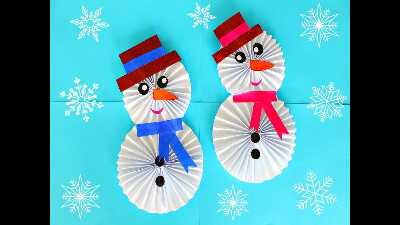 Бумажный снеговик своими руками фото 60