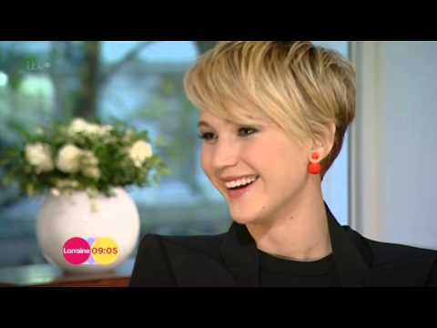 Jennifer Lawrence Hunger Games Catching Fire Interview Lorraine 2013