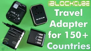 Review BEST Worldwide Travel Adaptor Work for 150+ Countries by iBlockCube