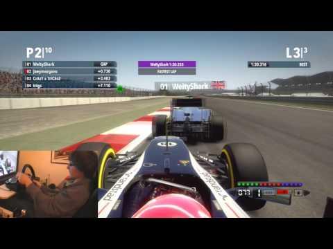 F1 2012 │ Last Lap Drama #1 │ New Delhi Racing