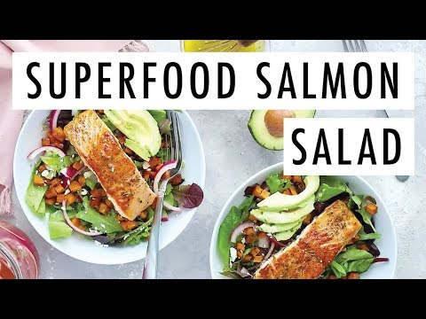 Superfood Salmon Salad | Bonefish Grill Copycat