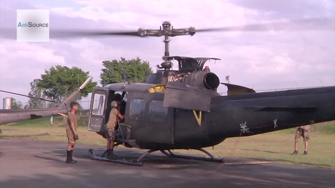 Huey Helicopter For Sale >> Philippine Air Force Members Prepare an UH-1H for Flight During Operation Damayan - YouTube