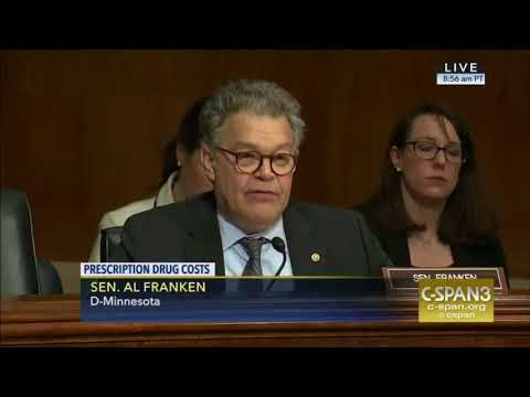 """WHY??!!"" Al Franken LOSES HIS PATIENCE & BRILLIANTLY DESTROYS Big Pharma Lobbyists"