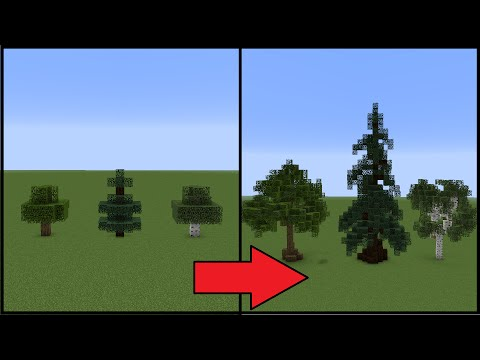 Minecraft: How To Make Better Trees!