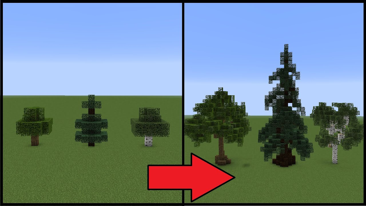 Pretty Trees Minecraft How To Make Better Trees Youtube