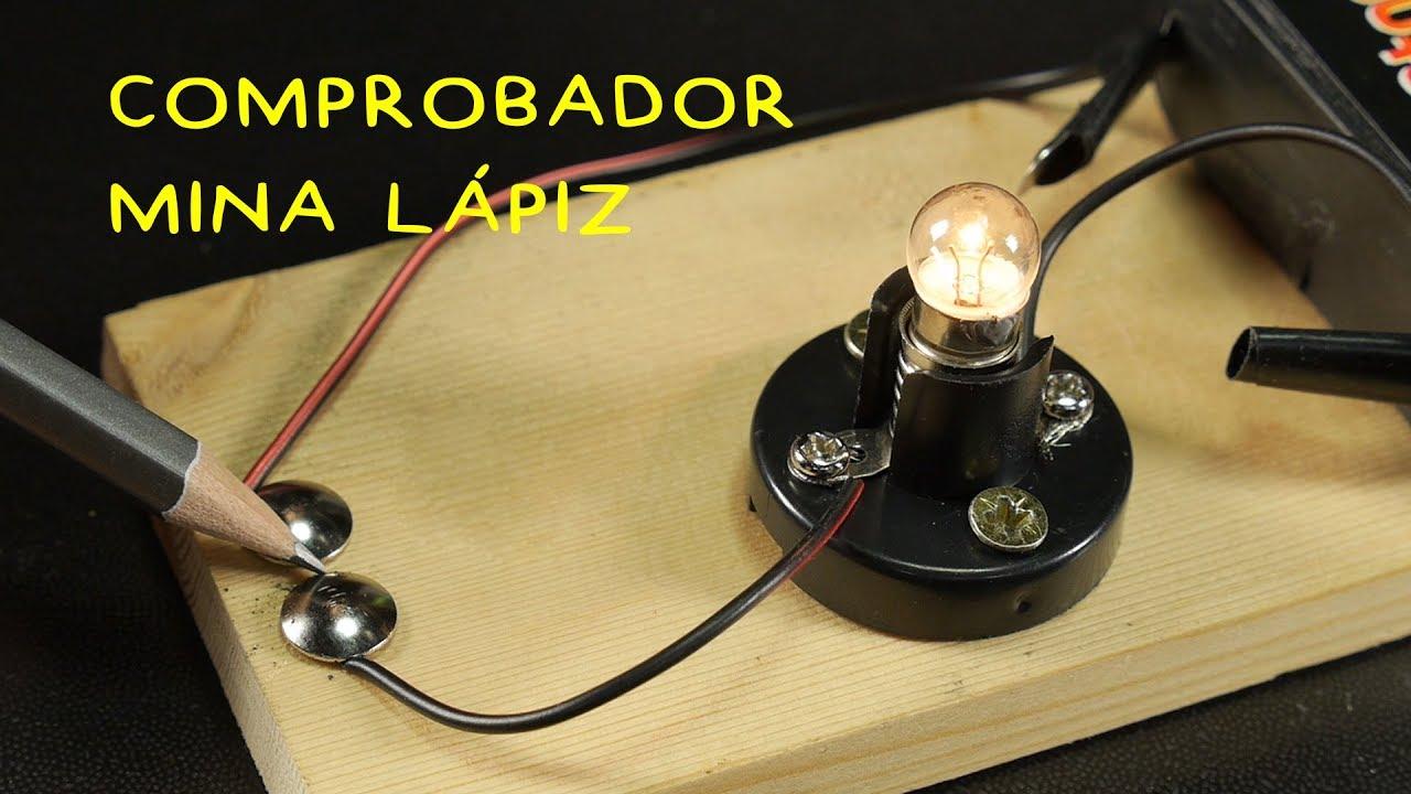 Comprobador Mina Lápiz. Conductividad Eléctrica. Proyecto Feria de Ciencias