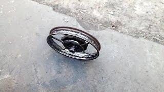 Сварные литые  колёса  на  Днепр,Урал своими руками 1 часть
