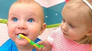 Cepillarse Los Dientes + otras Canciones Infantiles con Katya y Dima