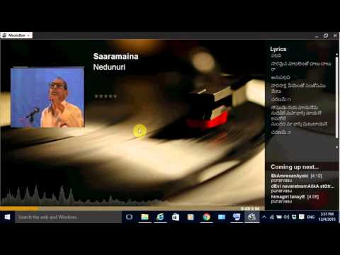 Musicbee: Windows Music Player supporting embedding/display of lyrics