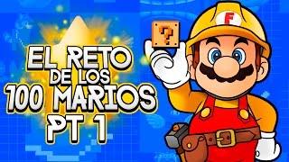 Super Mario Maker Reto de los 100 Marios Pt 1 (Necesito Ser Pequeño)