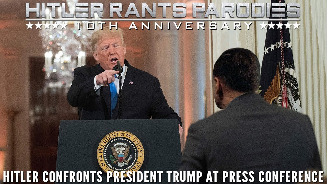 Hitler confronts President Trump at press conference