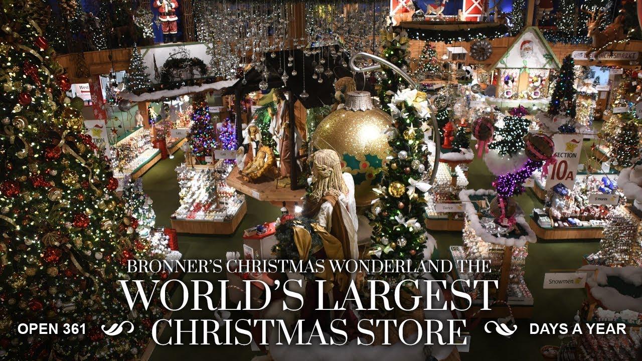 Bronners Christmas Wonderland.Bronner S Christmas Wonderland Store Tour