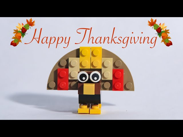 Happy LEGO Turkey Thanksgiving from Animated Brick Builders