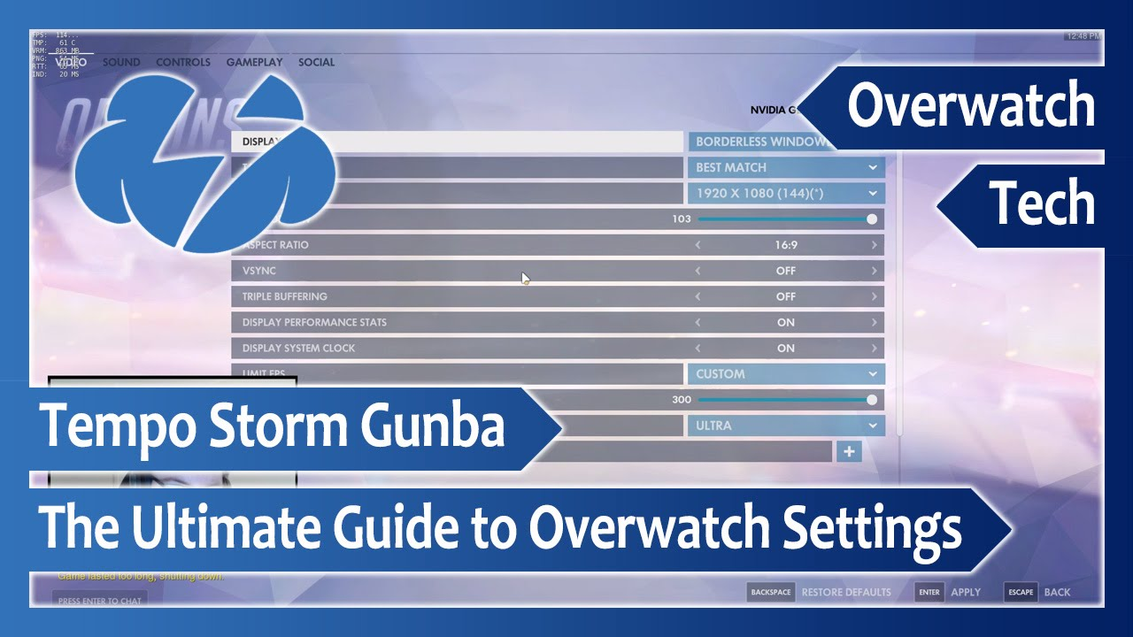 The Ultimate Guide to Overwatch Settings - YouTube