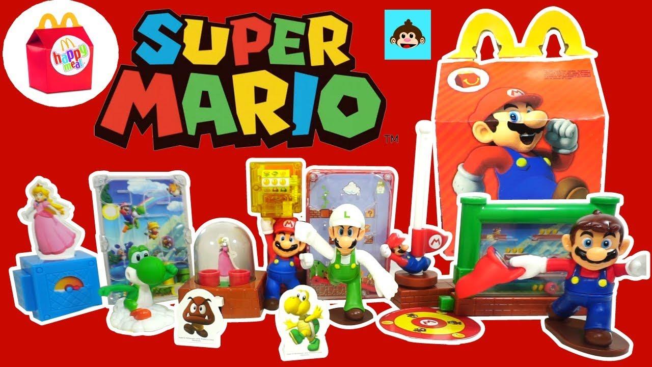 McDonalds Mario Bros 2018 / Coleccion Completa de la Cajita Feliz En Español