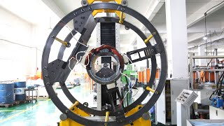 Coil Inserting Machine for Big Motor Stator in Pull-through Way