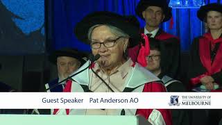 Graduation Occasional Address by Pat Anderson