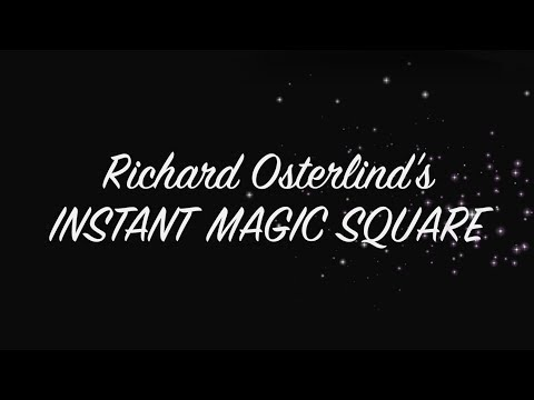 Richard Osterlinds Instant Magic Square - performance
