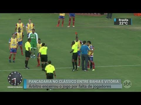 Federação Baiana declara o Bahia vencedor do clássico contra o Vitória | SBT Brasil (19/02/18)