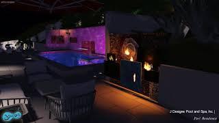 D&L 3D Swimming Pool Night 2