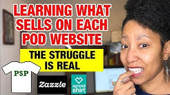 Zazzle and Spreadshirt Tips & Learning The POD Platforms