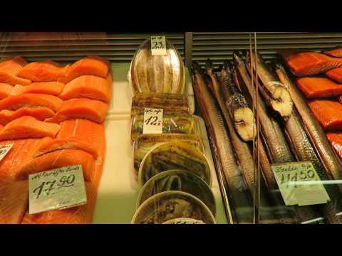 Рижский рынок. Рыбный павильон/Fish market in Riga