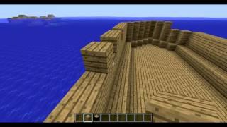 minecraft สร้างเรือ P.1