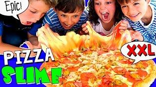 🍕 ¡¡PIZZA GIGANTE de SLIME!! (sin BÓRAX) 🍕 Hacemos una PIZZA XXL de MOCO 😱 ¡Fluffly Butter SLIME! thumbnail