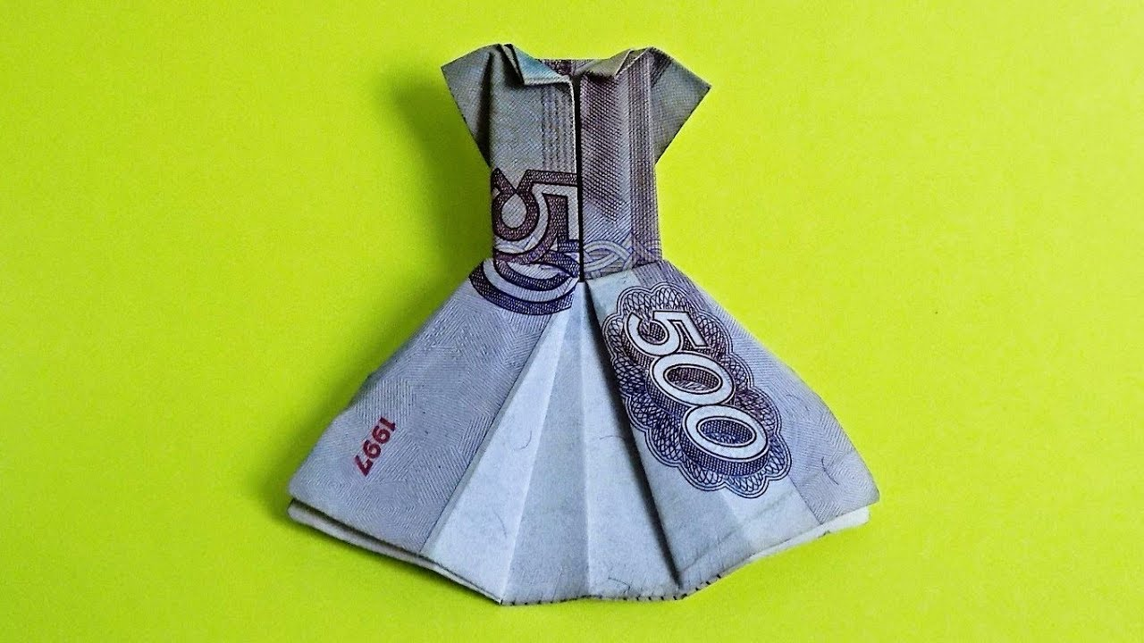 origami dress out of money moneygami youtube