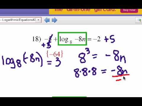 How To Solve Logarithm Equations Problem Set 4 Youtube