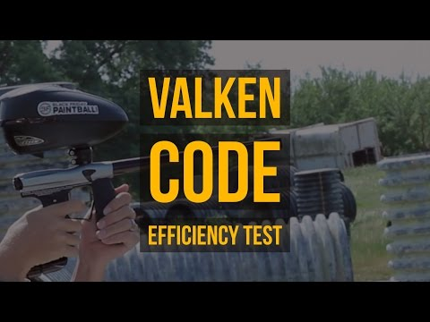 Valken CODE Paintball Gun Shooting & Air Efficiency Test