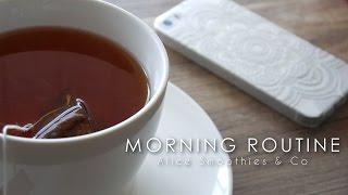 Morning Routine | Petit-déjeuner, étirements, makeup,  soins ....