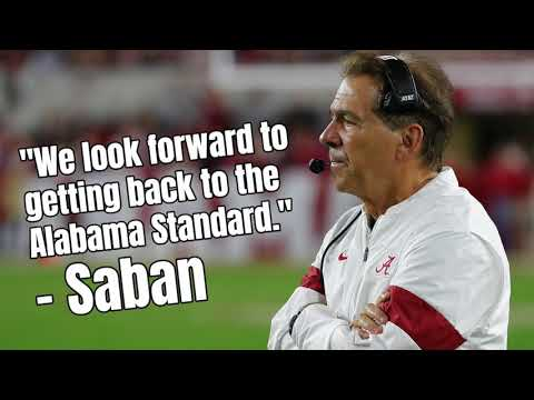 Nick Saban Looks Forward To Getting Back To The Alabama Standard Against Michigan In Citrus Bowl