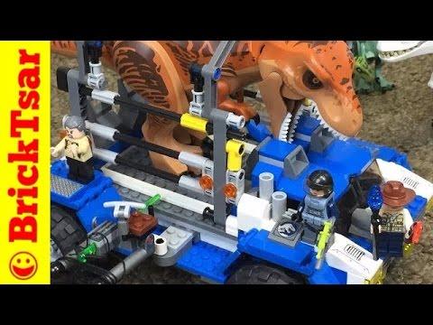 LEGO Jurassic World 75918 T. rex Tracker Review - Tyrannosaurus Dinosaur