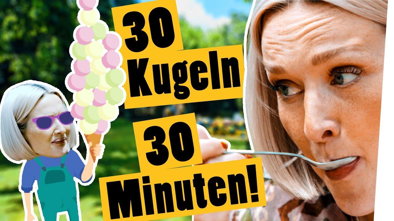 30 KUGELN EIS IN 30 MINUTEN! Die Eisessen-Challenge    Das schaffst du nie!