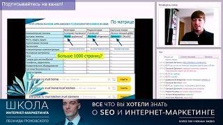 видео Seo аудит сайта и поисковый анализ