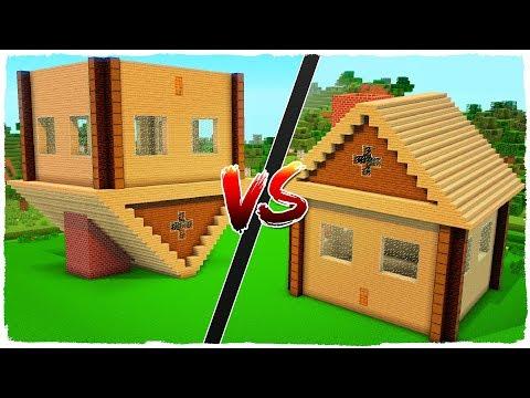 👉 Casa NORMAL vs casa INVERTIDA - MINECRAFT