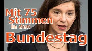 Göring Eckardt : Mit 75 Stimmen in den Bundestag - Grüne