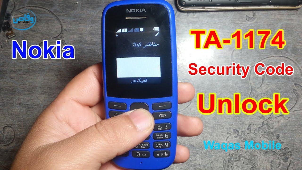 how to unlock my nokia 105 security code