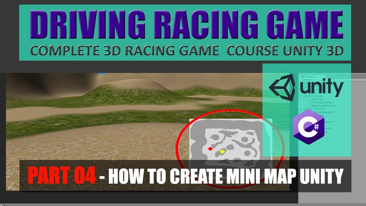 How To Create Mini Map In Unity | Building Advance Driving Racing Game In Unity & C# #4