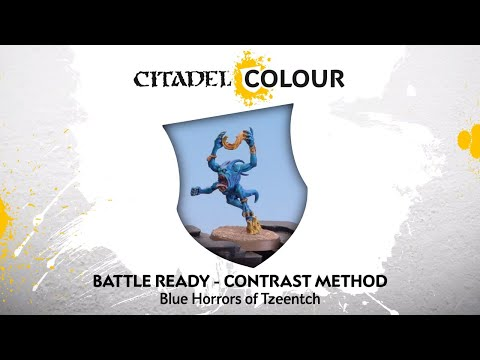 How to Paint: Battle Ready Blue Horrors of Tzeentch – Contrast Method