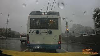 Фото Взгляд из окна такси. В Москве льет дождь, а мы плаваем по дорогам.