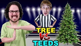 WRESTLING MATCH: TAKING DOWN THE TREE!! (Who won??)