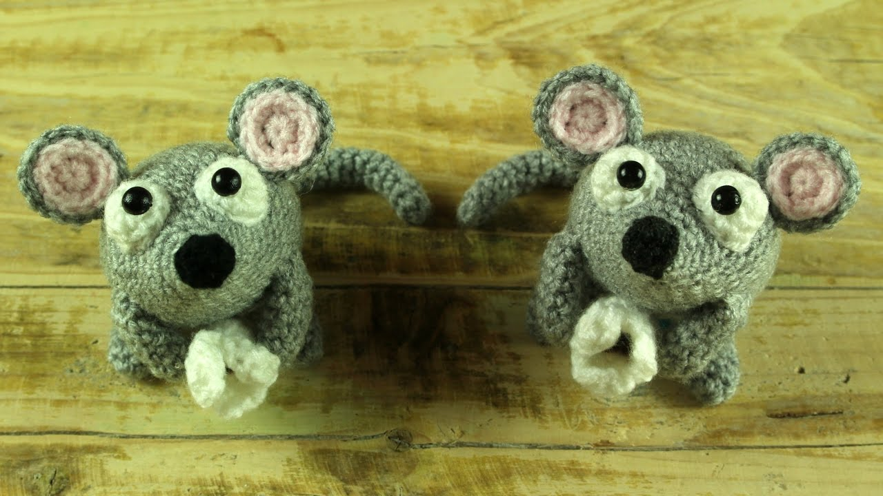 World Of Amigurumi : Mouse eat Pop Corn Amigurumi World Of Amigurumi - YouTube