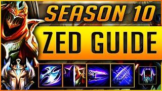 [GOD TIER] ZED GUIDE SEASON 9 (2019) ULTIMATE GUIDE [BEST RUNES, ITEMS, COMBOS ] | Zoose