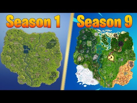 Evolution Of The Fortnite Map (Season 1 - Season 9)