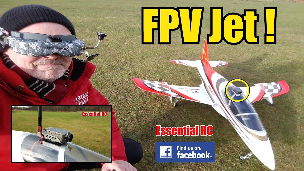 First Person View (FPV) RC JET RIDE (RunCam2 FPV docking station):  ESSENTIAL RC FLIGHT TEST [4K]